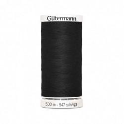 """GÜTERMANN Gütermann Fil à coudre """"Allesnäher"""" SB, 500 m, couleur: noir 000"""