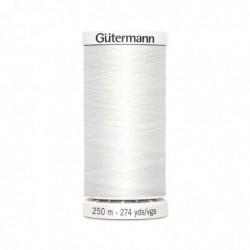"""GÜTERMANN Gütermann Fil à coudre """"Allesnäher"""" SB, 250 m, couleur: blanc 800"""