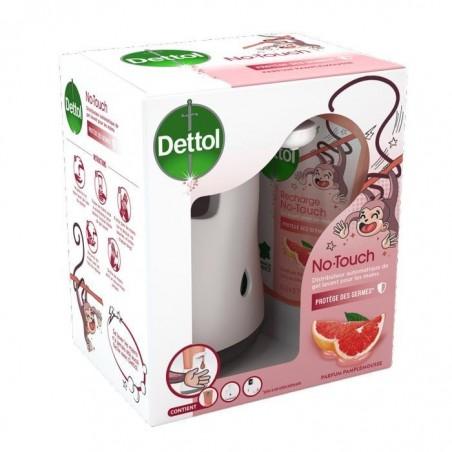 DETTOL No Touch kit - Distributeur Automatique Classic et Gel Lavant Mains Pamplemousse