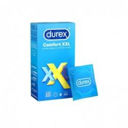 DUREX Préservatifs Comfort XXL - Préservatifs Extra Larges et Extra Longs - 10 pièces