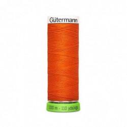 """GÜTERMANN Gütermann Fil à coudre """"Allesnäher"""" rPET, 100 m, couleur: orange 351"""
