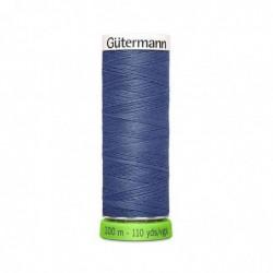 """GÜTERMANN Gütermann Fil à coudre """"Allesnäher"""" rPET, 100 m, couleur: bleu 112"""