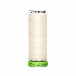 """GÜTERMANN Gütermann Fil à coudre """"Allesnäher"""" rPET, 100 m, couleur: blanc 1"""
