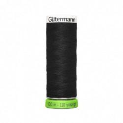 """GÜTERMANN Gütermann Fil à coudre """"Allesnäher"""" rPET, 100 m, couleur: noir 000"""