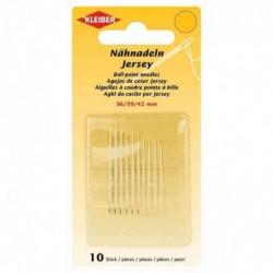 KLEIBER Set de 10 aiguilles à coudre à la main Jersey, 36, 39 et 42 mm, couleur argent
