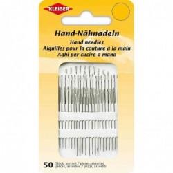 KLEIBER Set de 50 aiguilles à coudre à la main de différentes tailles