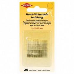 KLEIBER Set de 31 aiguilles à coudre main, 31, 33 et 35 mm