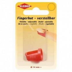 KLEIBER Dé à coudrepour de longs ongles, 14mm, rouge