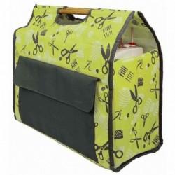 KLEIBER Sac pour machine à coudre, 430 x 210 x 410 mm couleur verte : kiwi/gris