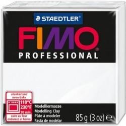 FIMO PROFESSIONAL Pâte à modeler, durcit au four, blanc, 85g