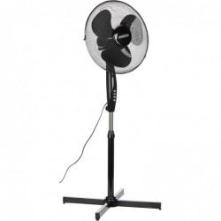 MESKO Ventilateur sur pied réglable 102 - 125 cm 45W Diam 40 cm noir