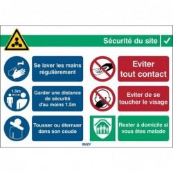 BRADY Signe de sécurité adhésif COVID-19 Informations générales Rectangle 262 x 371 mm