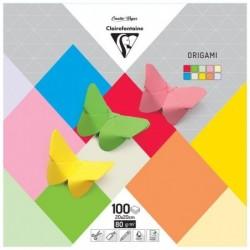 CLAIREFONTAINE Papier origami 20x20cm 100F 10 teintes