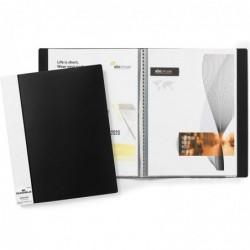 DURABLE Protège-documents DURALOOK, A4, avec 20 pochettes noir