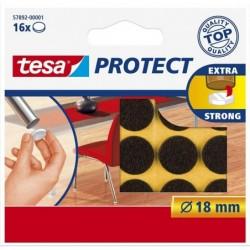 TESA Etui de 16 Feutre antiglisse/anti-rayures diam 18 mm marron
