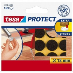 TESA Feutre antiglisse/anti-rayures, marron, diamètre: 18 mm
