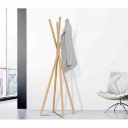 UNILUX Porte-manteau TIPY, 8 patères, bois de hêtre