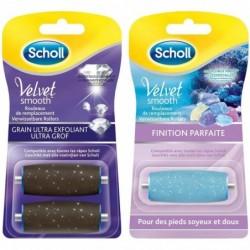 SCHOLL Rouleaux Râpe Electrique Pieds Velvet Smooth - Ultra Exfoliant et Finition Parfaite