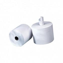 DELAISY KARGO Lot de 2 Bobines d'essuyage 800 formats Blanches 2 plis gaufrée - Format : 30 x 21 cm