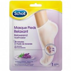 SCHOLL Masque Pieds Relaxant et Hydratant huile de lavande - 1 Pièce
