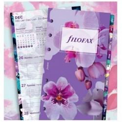 FILOFAX Recharge format Personal 171 x 95 mm Illustré floral 1 Sem / 2 Pages 2021