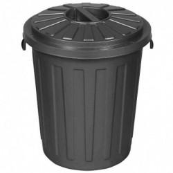 """OK Poubelle """"Maxi-Tonne"""" avec couvercle 23 litres H 42 cm graphite"""