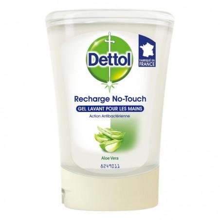 DETTOL No touch kit - Distributeur Automatique Effet Inox et Gel Lavant Mains Aloe Vera