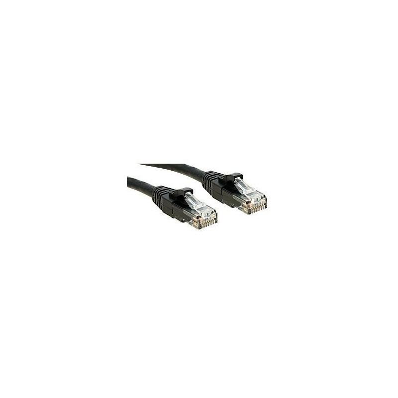LINDY Câble réseau cat.6 U/UTP Patch Premium, LSOH, cuivre, 250MHz, noir, 10m