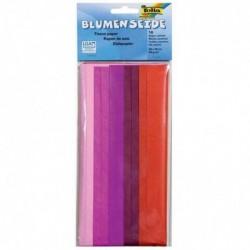 FOLIA Papier de soie (L)500 x (H)700 mm 20 g 10 feuilles mélange de rouge