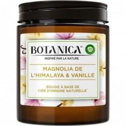 AIR WICK Bougie Botanica Parfumée Cire d'Origine Naturelle Magnolia & Vanille 205g