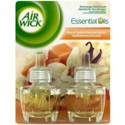 AIR WICK Pack de 2 Désodorisants Recharge pour Diffuseur Electrique Vanille Duo Pack