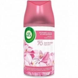AIR WICK Desodorisant Recharge Diffuseur Freshmatic Orchidée Sauvage et Soie 250 ml