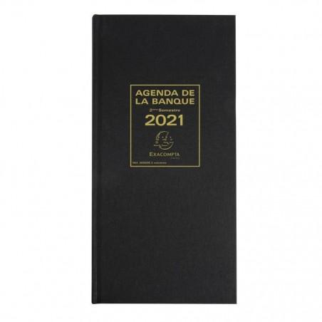 EXACOMPTA Agenda de bureau Agenda banquier long 2 volumes 340x160 mm Noir