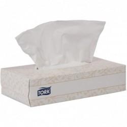TORK Boîte de 100 mouchoirs jetables enchevetrés 2 plis blanc