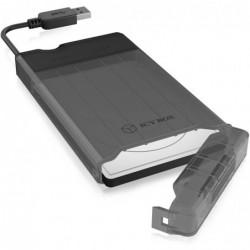 """ICY BOX Boîtier Externe pour Disque Dur SATA 1 x 2,5 """"HDD/SSD, USB 3.0 Type A (5 Gbit/s)"""