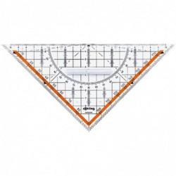 ROTRING Equerre géométrique Centro avec poignée hypoténuse 23 cm