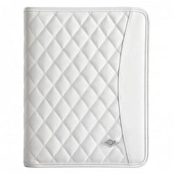 """WEDO Conférencier élégance blanc iPad/tablette 9,7"""" + bloc A5 et compartiments"""