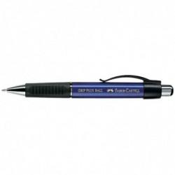 FABER-CASTELL Stylo à bille rétractable GRIP PLUS pointe moyenne bleu