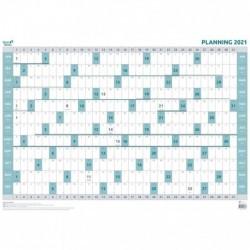 QUO VADIS Planning Annuel Pelliculé Souple 90x63 Effaçable