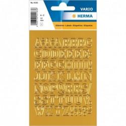 HERMA Planche Etiquettes à lettres A-Z (H)12 mm film Or Lettres Or