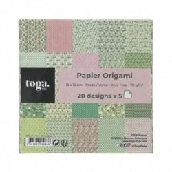 DRAEGER Lot de 100 papiers 15x15 origamis Kyoto