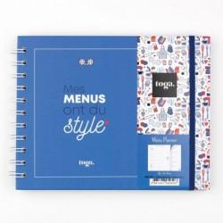 DRAEGER Kit menu planner Frenchy, Papier, Tricolore, 19 x 15 cm