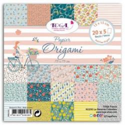TOGA 100 feuilles de papier pour l'origami 15x15 OH LA LA