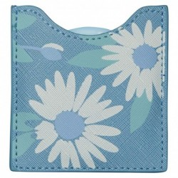 DRAEGER Miroir Icone fleurs Bleu et Blanc