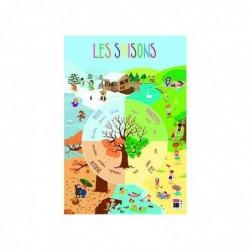 """BOUCHUT Poster pédagogique """"Saisons"""" 52 x 76 cm"""