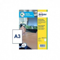 AVERY Etui de 10 Films antimicrobien 400 x 277 mm amovibles transparent
