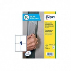AVERY Etui de 40 Films antimicrobien 139,0 x 99,1 mm amovibles  transparent