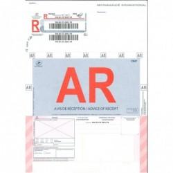 APLI Boîte de 250 recommandés internationaux IBR1 avec AR