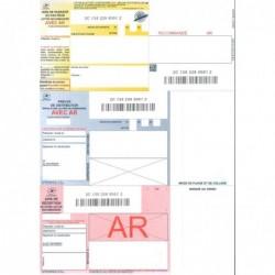 APLI Boîte de 150 recommandés nationaux IB1 avec AR sur feuille A4