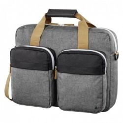 """HAMA Sacoche d'ordinateur portable """"Florence II"""", jusq. 44 cm (17,3""""), noir/gris"""
